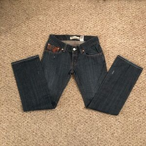 Levi's Slouch straight, dark wash, Size 9M